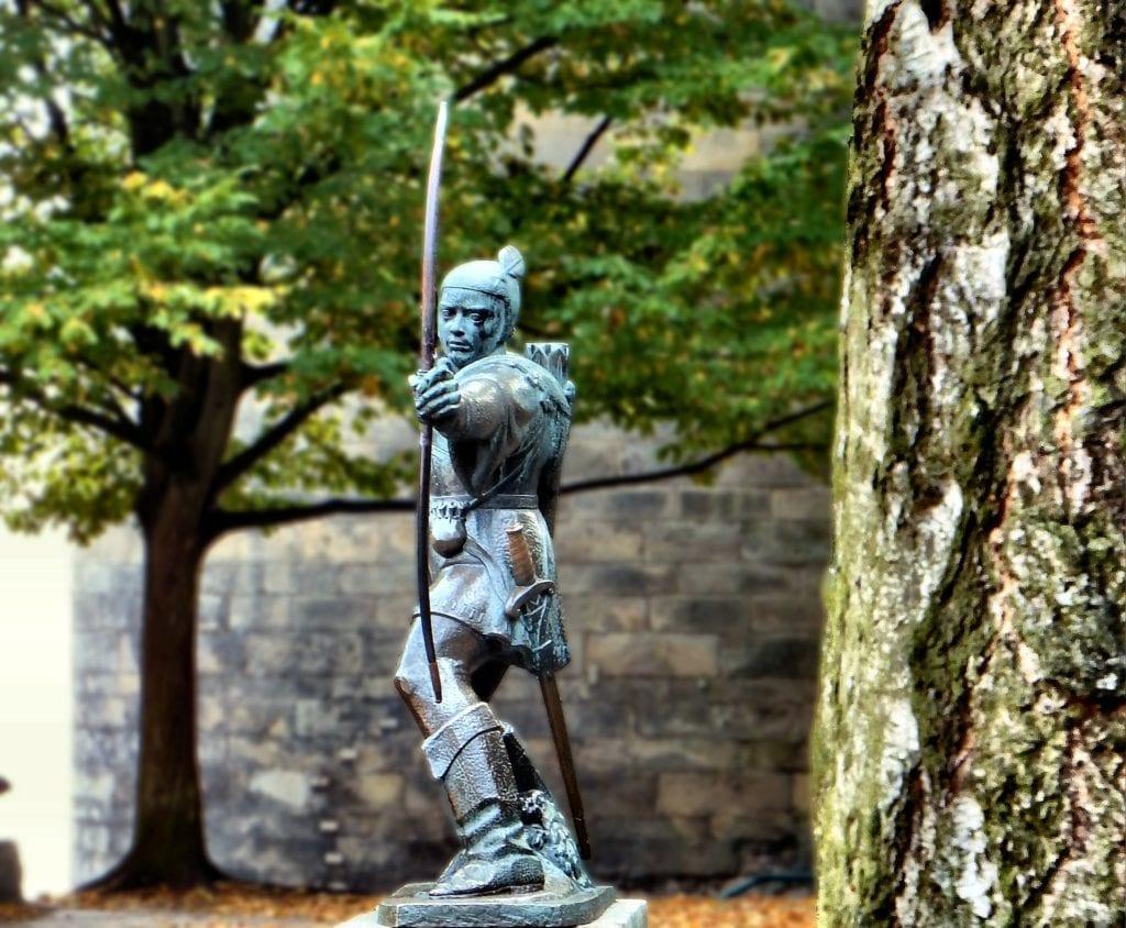 Robin Hood miał pochodzić z okolic Nottingham,