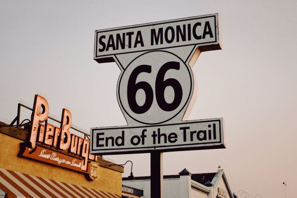 Santa Monica Pier koniec Route 66