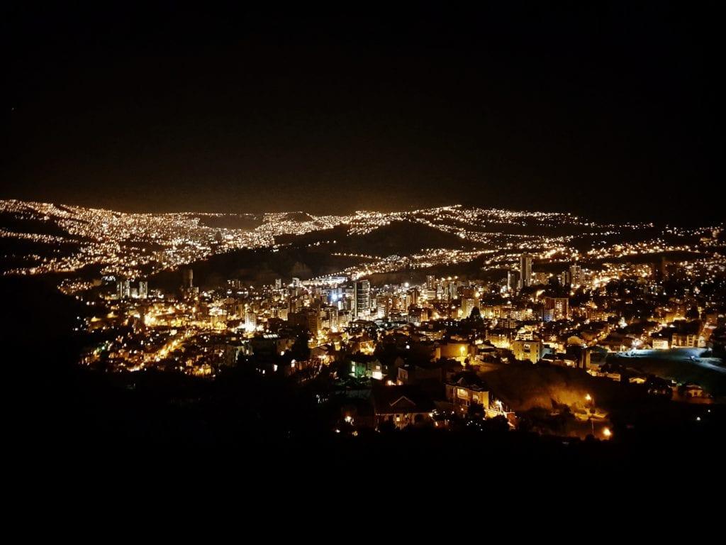 La Paz nocą, Boliwia