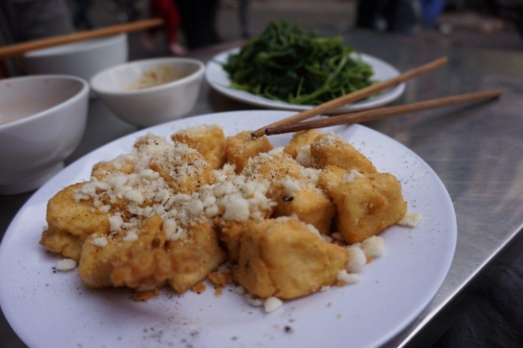 Smażone tofu,