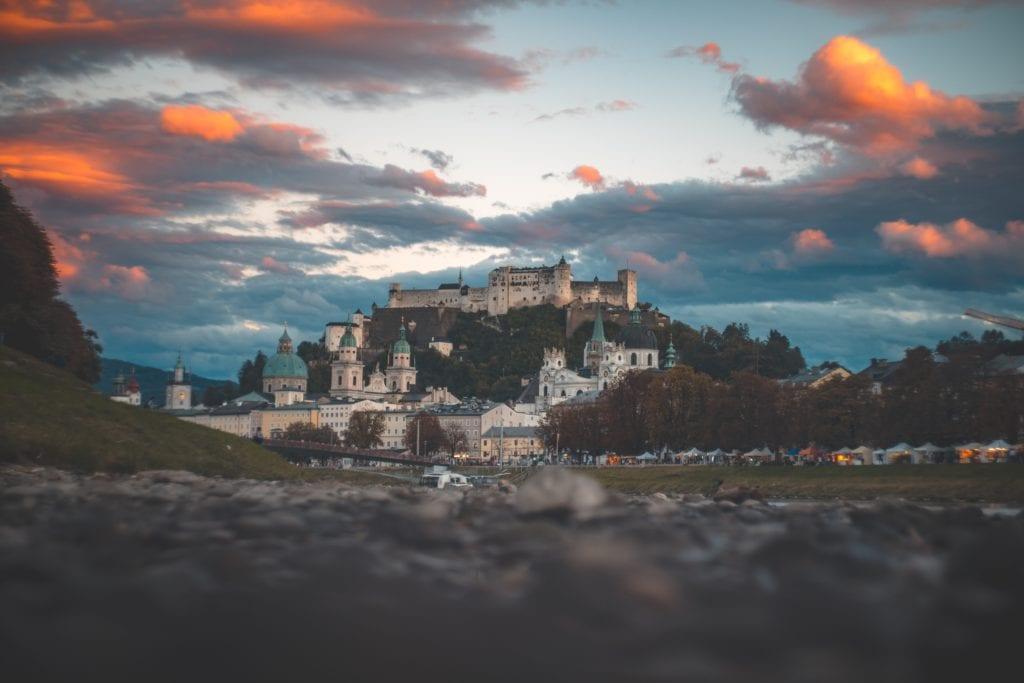 Zamek w Salzburgu, Austria