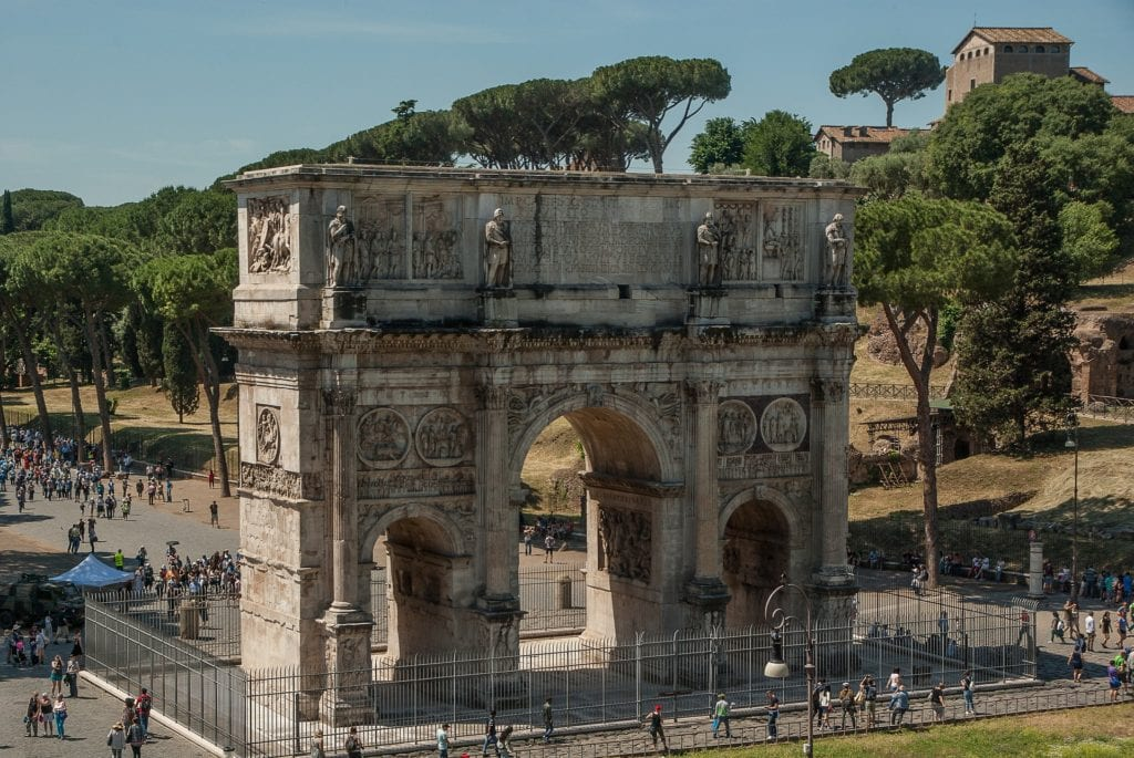 Łuk Konstantyna Wielkiego. Rzym