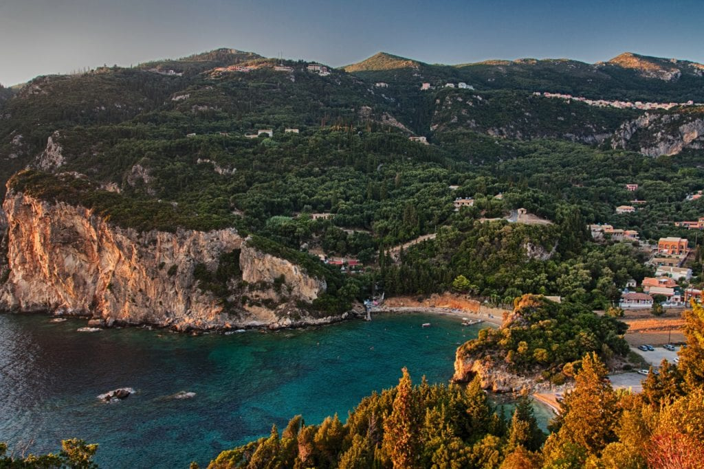 Paleokastritsa, Korfu Grecja