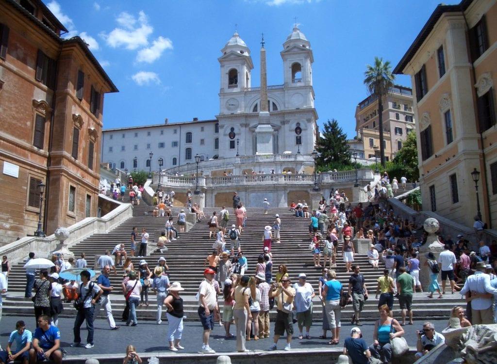 Schody Hiszpańskie w Rzymie,