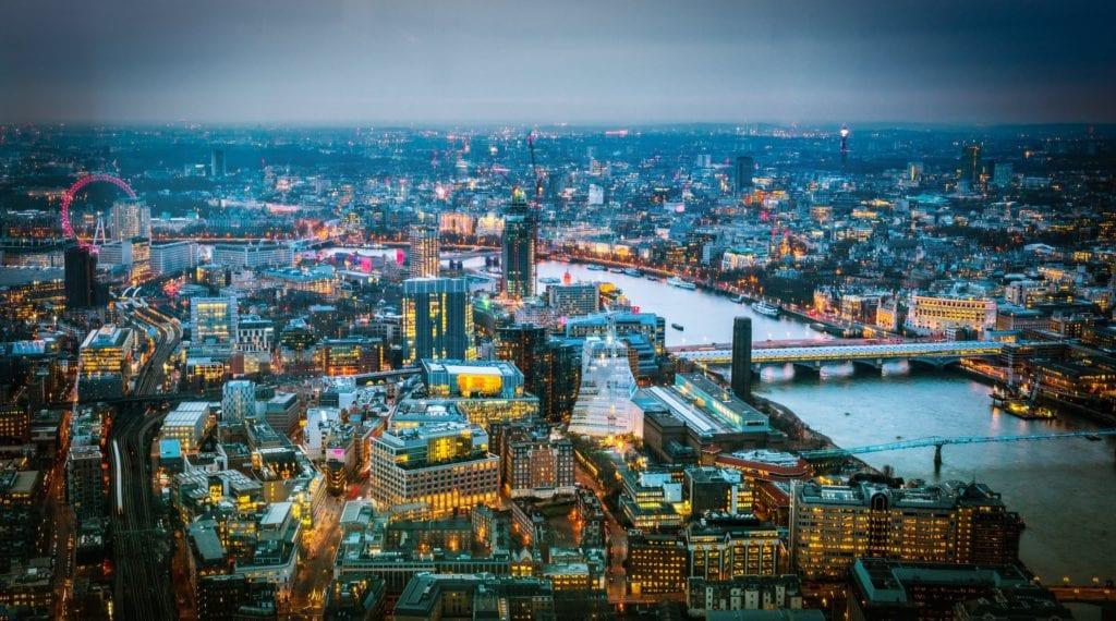 Widok z The Shard, Londyn