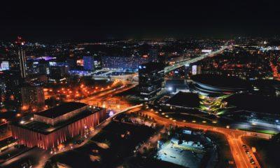 Katowice nocą, tanie bilety lotnicze z Katowic
