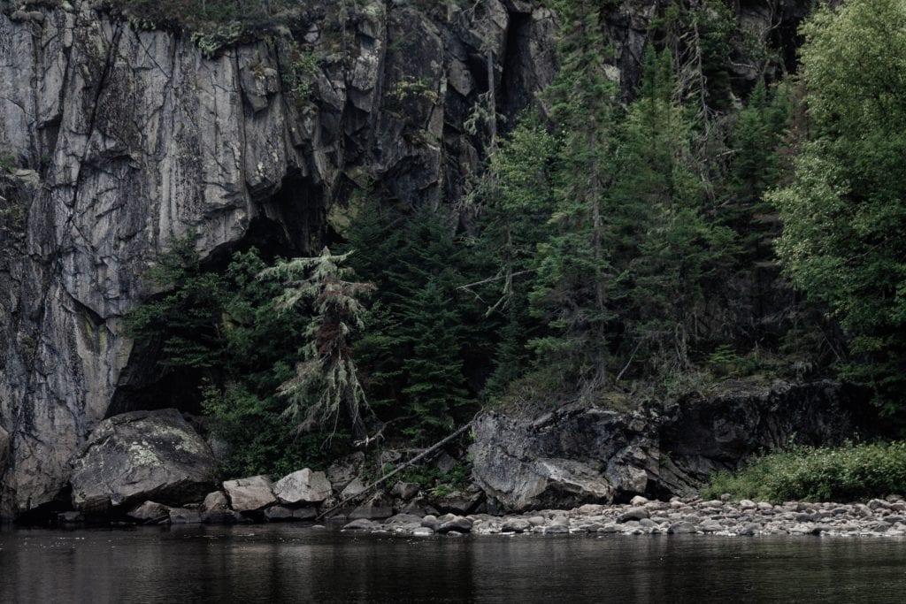 Park Narodowy Hautes-Gorges-de-la-Rivière-Malbaie w regionie Charlevoix, Kanada