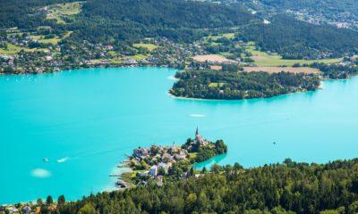Austriackie jezioro Wörthersee, Austria