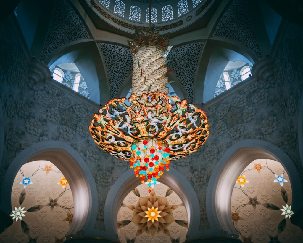 Okazały żyrandol w meczecie, Abu zabi