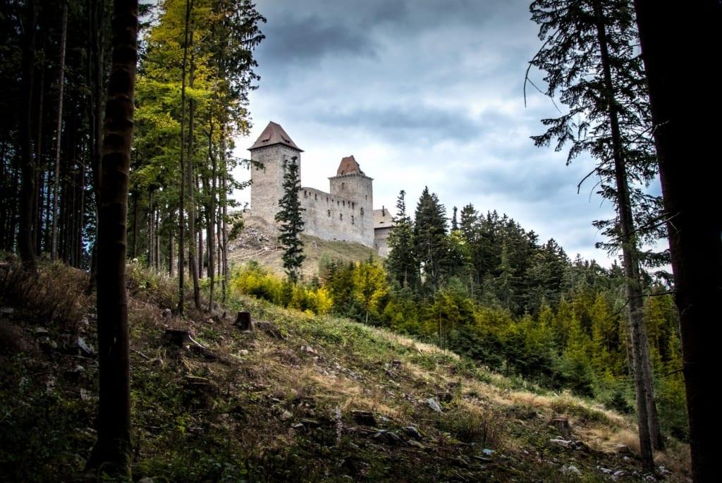 Zamek Kašperk niedaleko Szumawy, Czechy