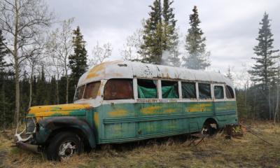 """Autobus z """"Wszystko za życie"""", Denali, Alaska, fot. Olga Khrustaleva Shutterstock"""