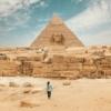 Wielki Sfinks, kompleks piramid w Gizie, Egipt,