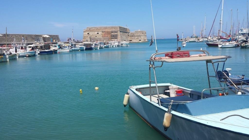 Port w Heraklionie, Kreta