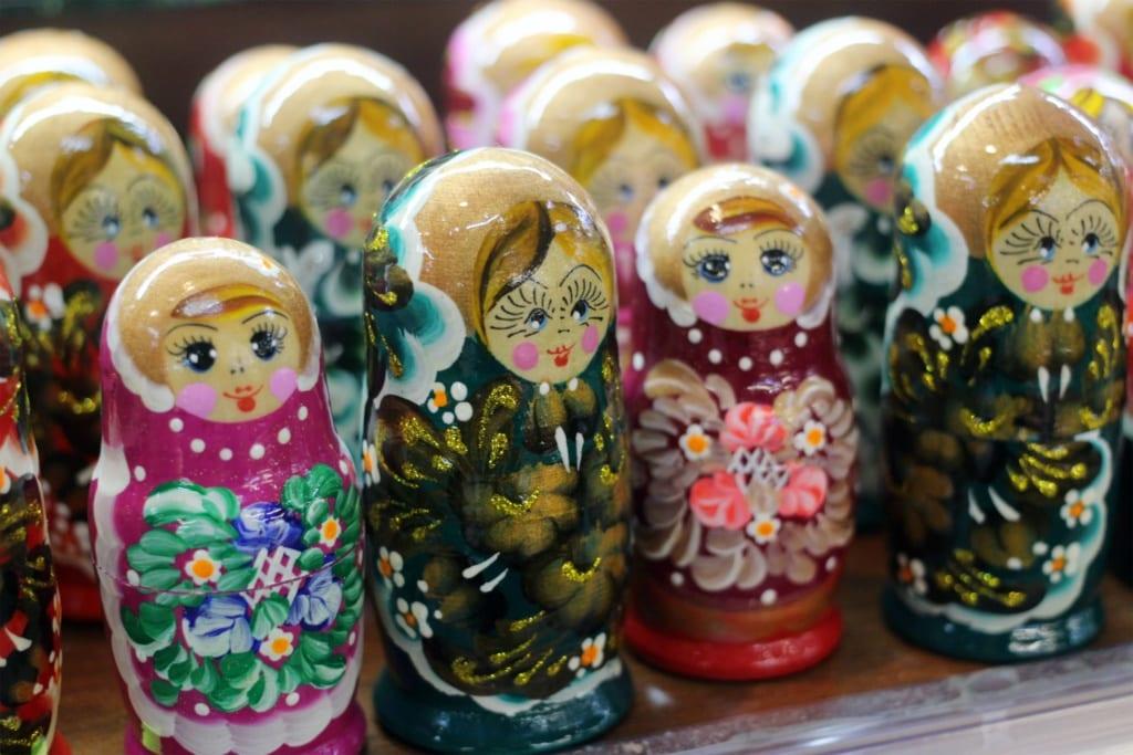 Matrioszki to top pamiątki z Rosji
